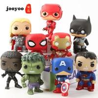 FUNKO POP Marvel Avengers DC Justice League 9PCS Action Figure Spider Man Hulk Superman Batman Iron Man Decoration Doll jooyoo