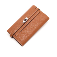 LACATTURA Women Long Wallet High Quality Cow Leather Famous Brand Luxury Purse For Lady Cards Holder H bag Wallets Clutch Female