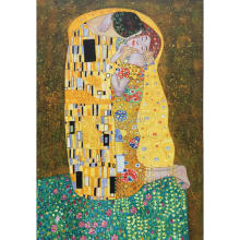 Wall art the kiss Painting by Gustav Klimt High quality oil painting on canvas beautiful hand painted artwork for bedroom