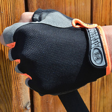 Spring and summer thin men's mesh riding fitness exercise hiking outdoor training non-slip sports breathable half finger gloves стоимость