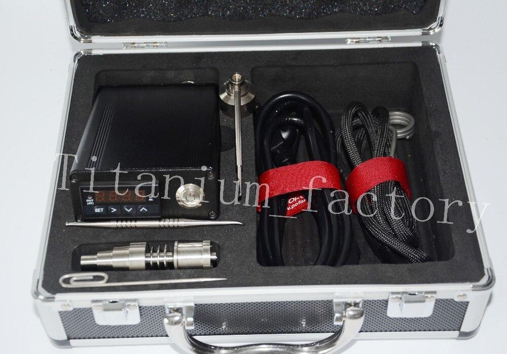 Электронный подогреватель DNail контроля температуры поле для воска с 16 мм или 20 мм us110v или eu220v катушки универсальный Титан крышка Dabber