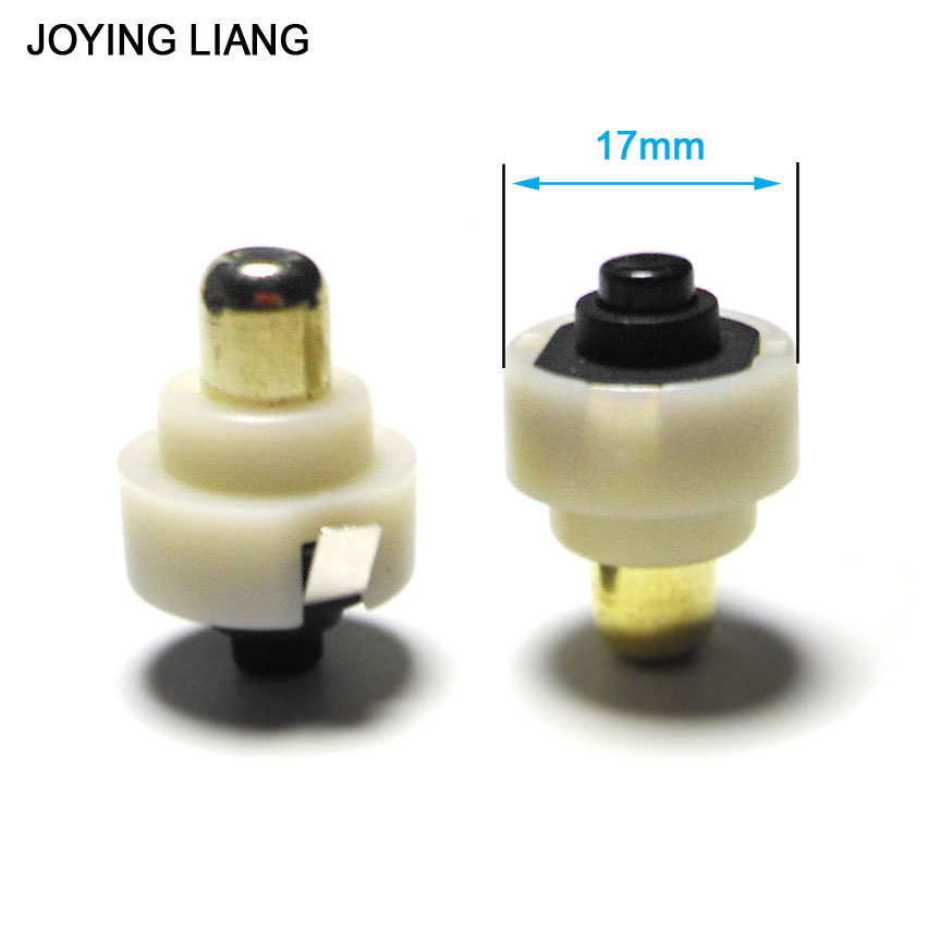 JOYING LIANG 2PCS 17mm Diameter LED Flashlight Push Button Switch ON/ OFF Electric Torch Tail Switch