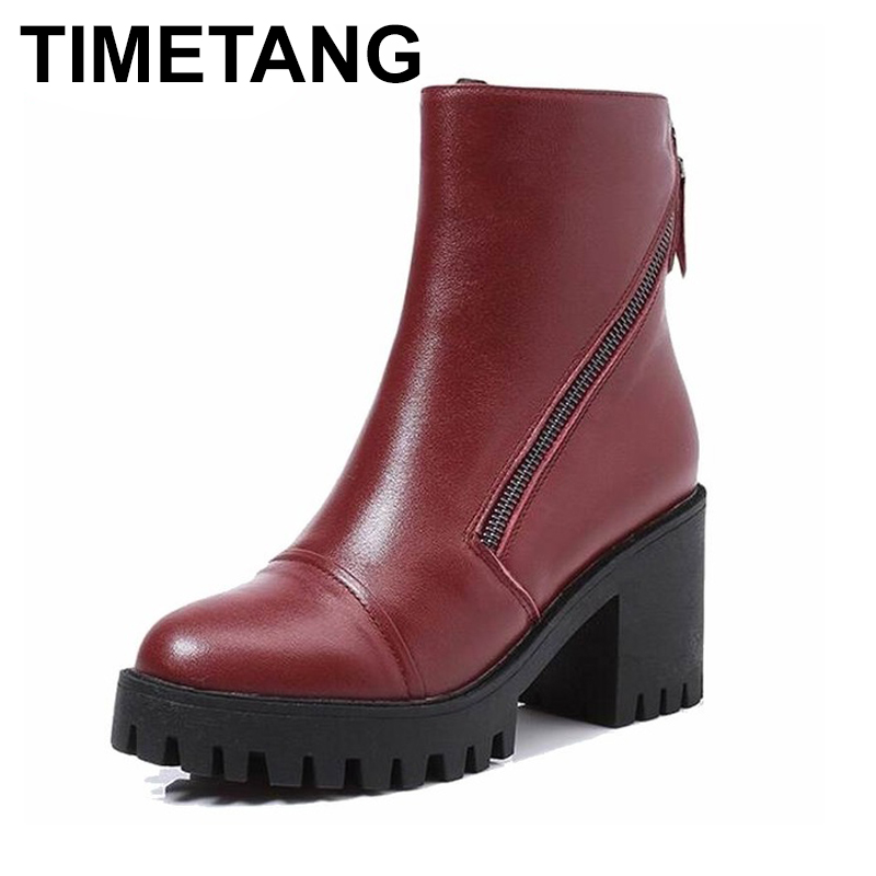 TIMETANG  Women Winter Boots Size 34~40 Warmest Genuine Leather Russian style Women Snow Boots TIMETANG  Women Winter Boots Size 34~40 Warmest Genuine Leather Russian style Women Snow Boots