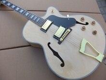 Freies Verschiffen Neue l-5 Halb hohlen e-gitarre beste qualität in AHORN natur holz 101029