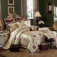 Дворцовое шелковое постельное белье набор роскошных 4, 6 штук в партии, высокое качество жаккардовые ткани из шелка и хлопка: пододеяльник, п
