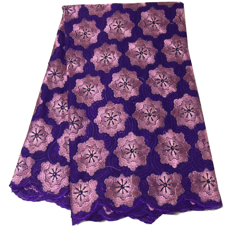 Free shipping (5yards/pc) good quality embroidered African Swiss voile lace fabric purple pink for party dress CLS185Free shipping (5yards/pc) good quality embroidered African Swiss voile lace fabric purple pink for party dress CLS185