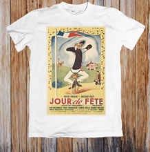 JOUR DE FETE 40s MOVIE POSTER UNISEX T-SHIRT MenS T-Shirts Summer Style Fashion Swag Men T Shirts. Classic