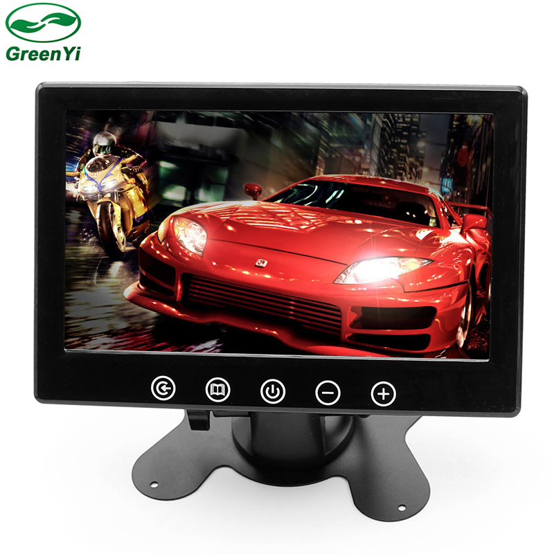 GreenYi T711 10pcs 7inch LCD TFT Screen Car Parking Monitor With 2 Video Input Parking Assistance Camera