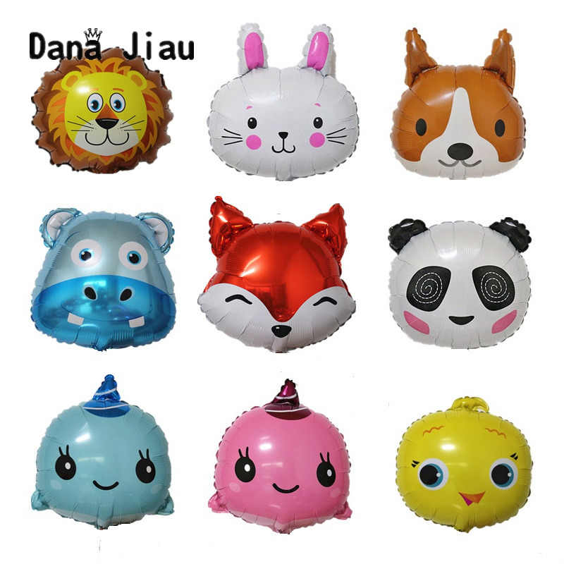 18inch /mini Animal Head Balloons Birthday Party Decoration Toy Wedding Balloon Holiday Aluminum Inflatable Foil Ball