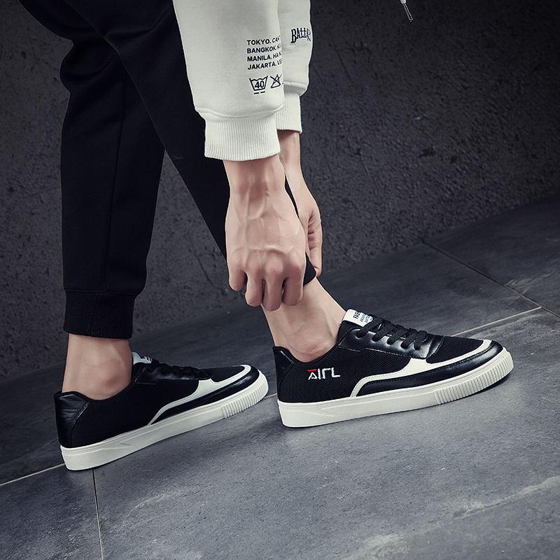 LAISUMK Men Casual Shoes Breathable Canvas Shoes For Men Superstar Black Espadrilles Men Spring Summer Male Shoes in Men 39 s Casual Shoes from Shoes