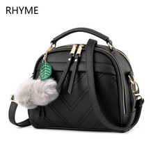 Rhyme New Fashion Leather Bag Ladies Tote Shoulder Bag Handbags Women Famous Brands Bag PU  Square Package