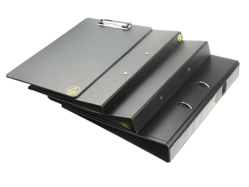 ESD-Safe 2-Ring Binder with 1-1/2 Ring  A4 Size 3 Different Kinds ESD Clipboard Better Document Manager and Better WorkingESD-Safe 2-Ring Binder with 1-1/2 Ring  A4 Size 3 Different Kinds ESD Clipboard Better Document Manager and Better Working