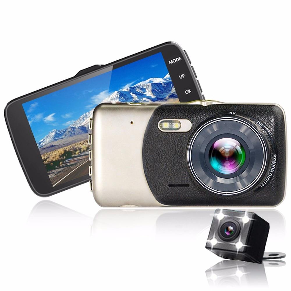 4.0 Inch IPS Screen Car DVR Novatek 96658 Car Camera Double lens Oncam Dash Camera Full HD 1080P Video 170 Degree Dash Cam original 2 7 inch ips screen car dvr car camera w100 dash camera full hd 1080p video 170 degree anytek w100 night vision hd 2 0
