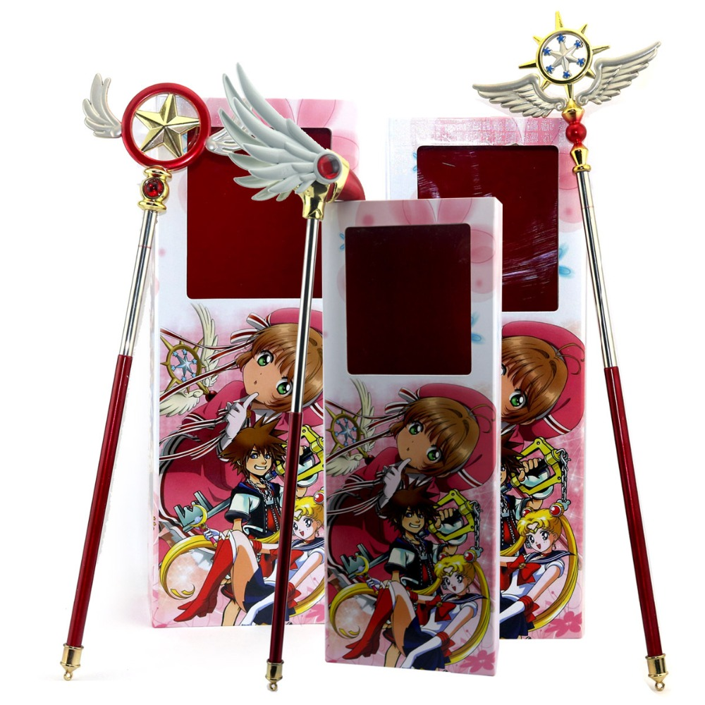 Anime Card Captor Sakura Cosplay Prop Abs Magic Wand Beauty Gift Cosplay Prop Women Gift Drop Ship Costumes & Accessories