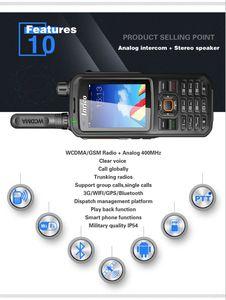 Image 4 - Bộ Đàm 50 Km Mạng 2 Chiều Đài Phát Thanh T298S WCDMA GPS SIM Điện Thoại Di Động Radio UHF Analog 400 470Mhz Cầm Tay
