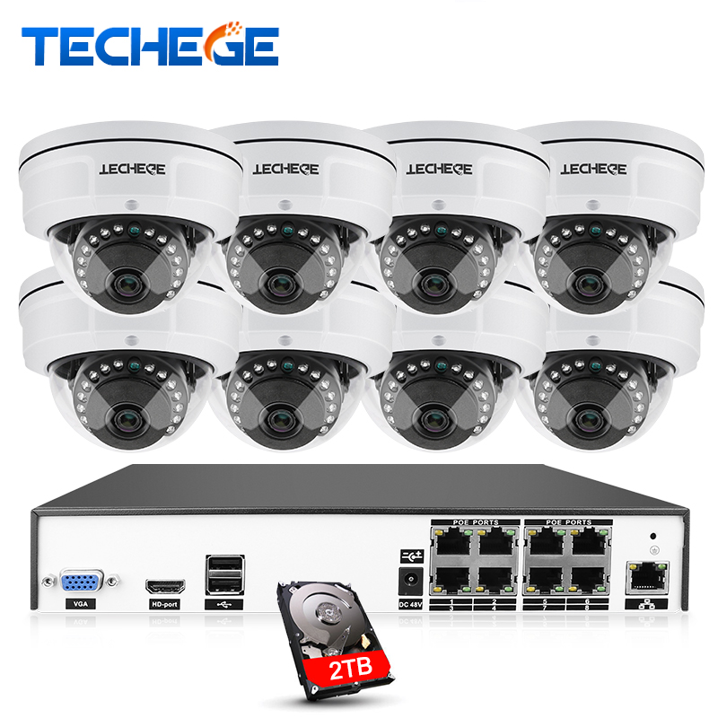 H.265/H.264 8CH POE NVR CCTV Camera System 4MP POE IP Camera 2592*1520 IR Night Vision Vandalproof Plug and Play P2P APP View h 265 h 264 960p 1080p 4mp 2592 1520 motorized 2 8 12mm lens bullet network ip camera poe ipcam ip67 waterproof camara cctv
