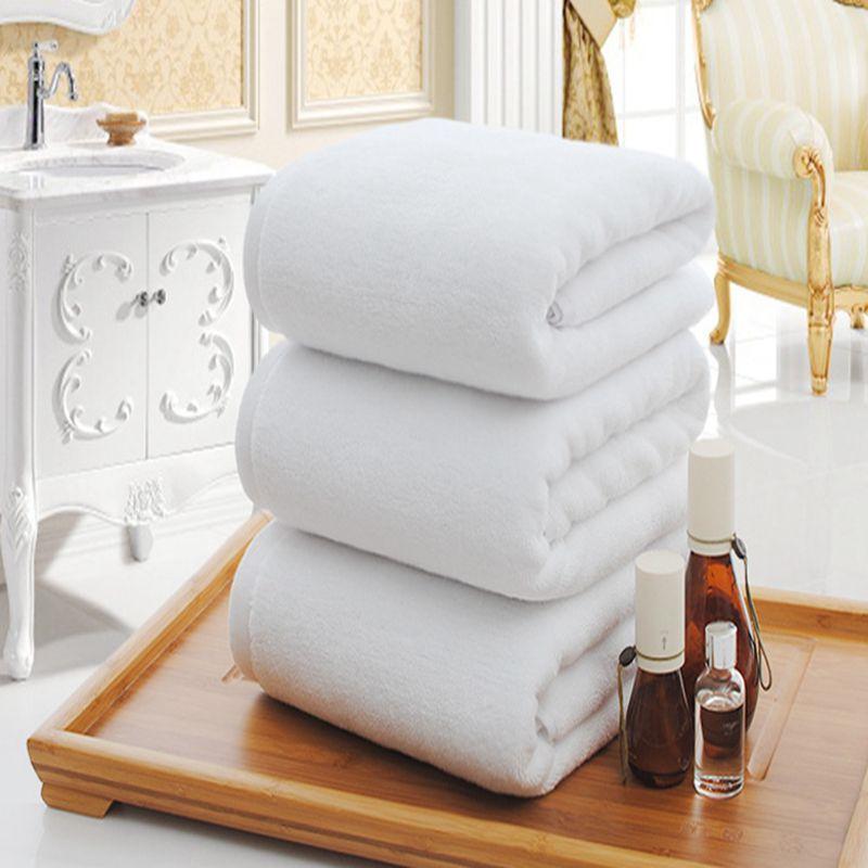 純白大バスタオル高品質増粘100%コットンホテル大人用タオルソフト快適な吸水フェイスタオル