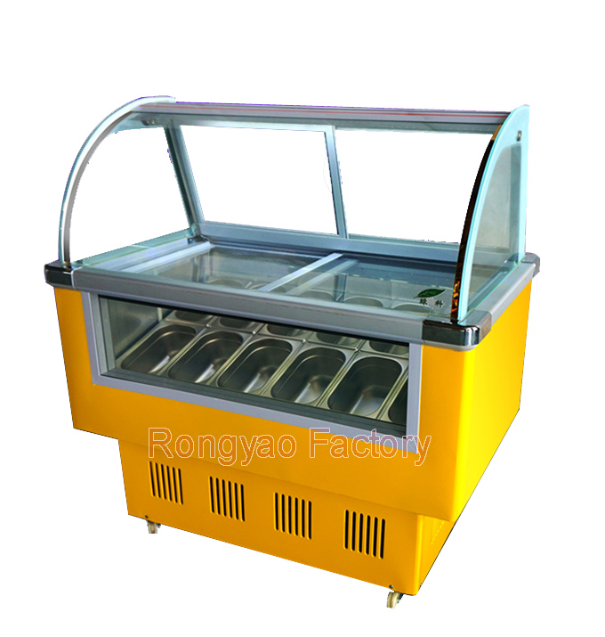 6 Barrel Or 10 Tank Freezer Cabinet For Hard Ice Cream Low Temperature -18degrees