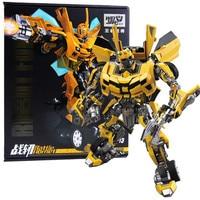 NEW 21cm Original Anime Transformers metal Bumblebee model children Toy Dolls Gifts