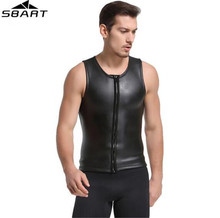 SBART 2MM Neoprene Wetsuit Vest Sleeveless Sun Protection Smoothskin Surf Shirt Surfing Diving Suit Jacket For Men