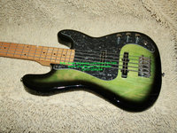 Green Bass Guitar 5 Strings Beauty Electric Bass Promotion Free Shipping HOT