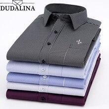 Dudalina, новинка, мужские рубашки с длинным рукавом, мужские полосатые классические удобные мягкие повседневные рубашки на пуговицах, повседневные мужские Рубашки, Топы