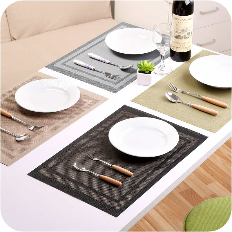 european style dining table mat insulation heat non slip waterproof disc bowl pads table mat kitchen accessories 6 color. beautiful ideas. Home Design Ideas