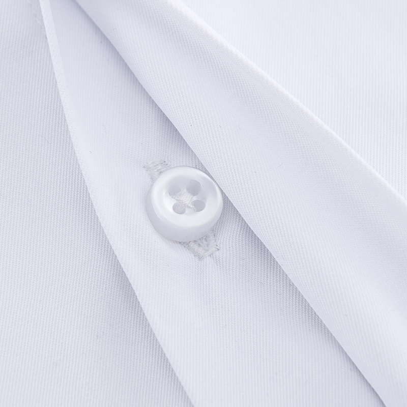 Men's Classic French Cuffs Solid Dress Shirt Covered Placket Formal Business Standard-fit Long Sleeve Shirts (Cufflink Included) 4