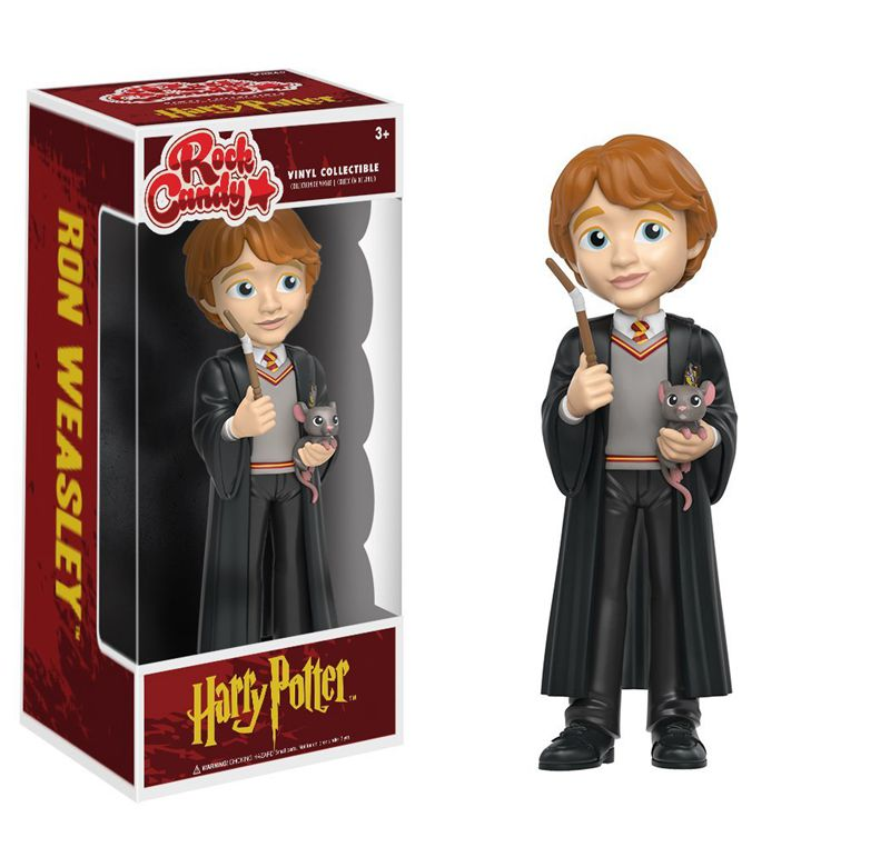 Official Funko Rock Candy Harry Potter - Ron Weasley Vinyl Action Figure Collectible Model Toy with Original Box mens watches top brand luxury lige 2017 men watch sport tourbillon automatic mechanical leather wristwatch relogio masculino