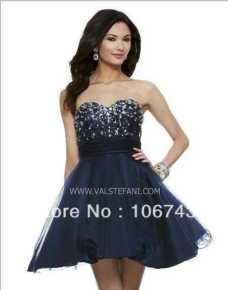 Free Shipping 2016 New Design Vestidos Colorful Special Occasion Sweetheart Beaded Crystal Elegant Short Cocktail Party Dresses