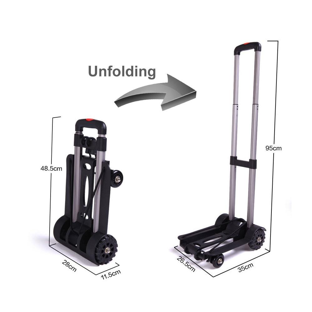 Автомобильная складная тележка для багажа из алюминиевого сплава, портативный дорожный трейлер, бытовая тележка для багажа, тележка для по...