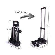 Carro de equipaje plegable para coche, de aleación de aluminio, remolque de viaje portátil, carrito de equipaje para el hogar, carrito de compras