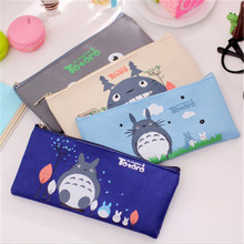 Cute Kawaii Fabric Pencil Case Lovely Cartoon Totoro Pen Bags For Kids Gift School Supplies   W2.2