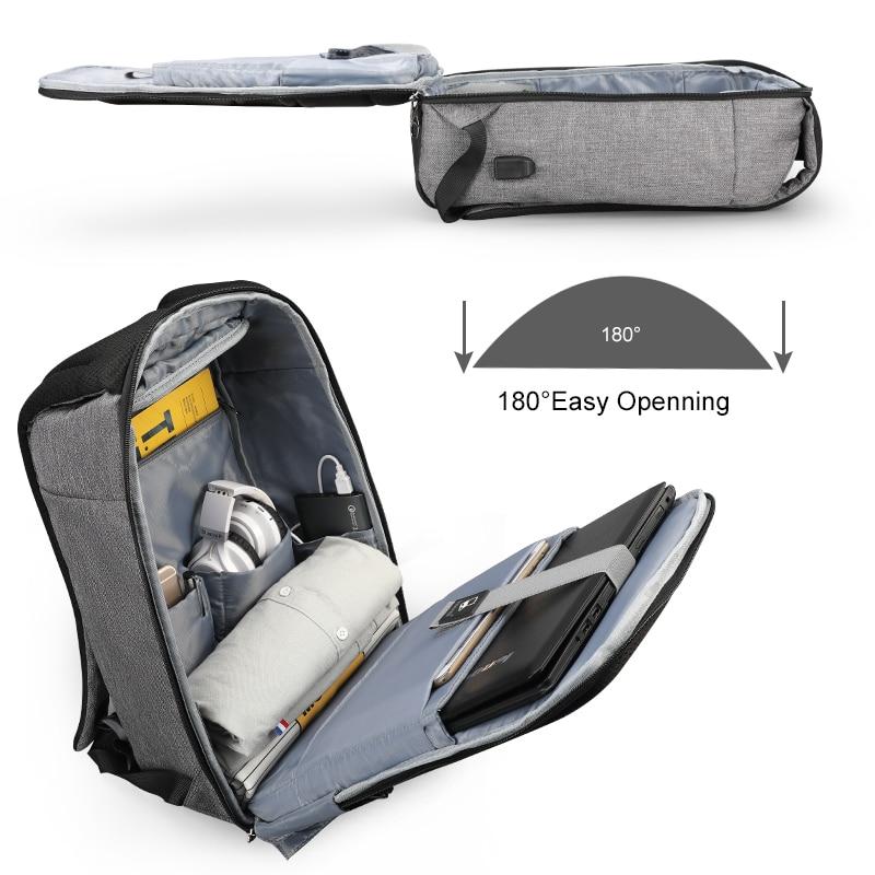 Tigernu nouveau Anti-vol USB chargeur sac à dos ordinateur portable étanche voyage sac à dos homme sac à dos décontracté pour homme - 2