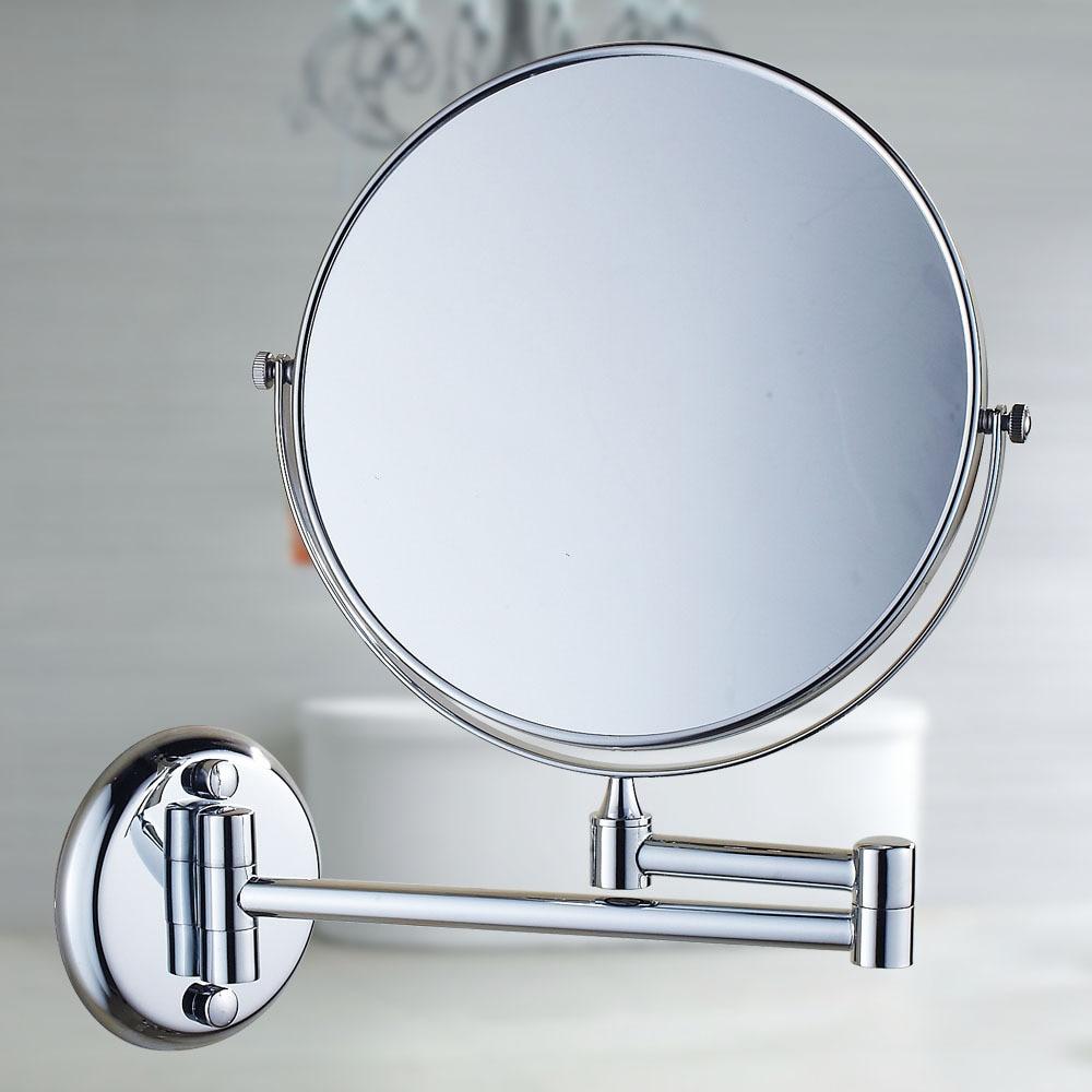 Beauty Mirror Wall Bathroom Telescopic Folding Golden Toilet Sided Magnifying