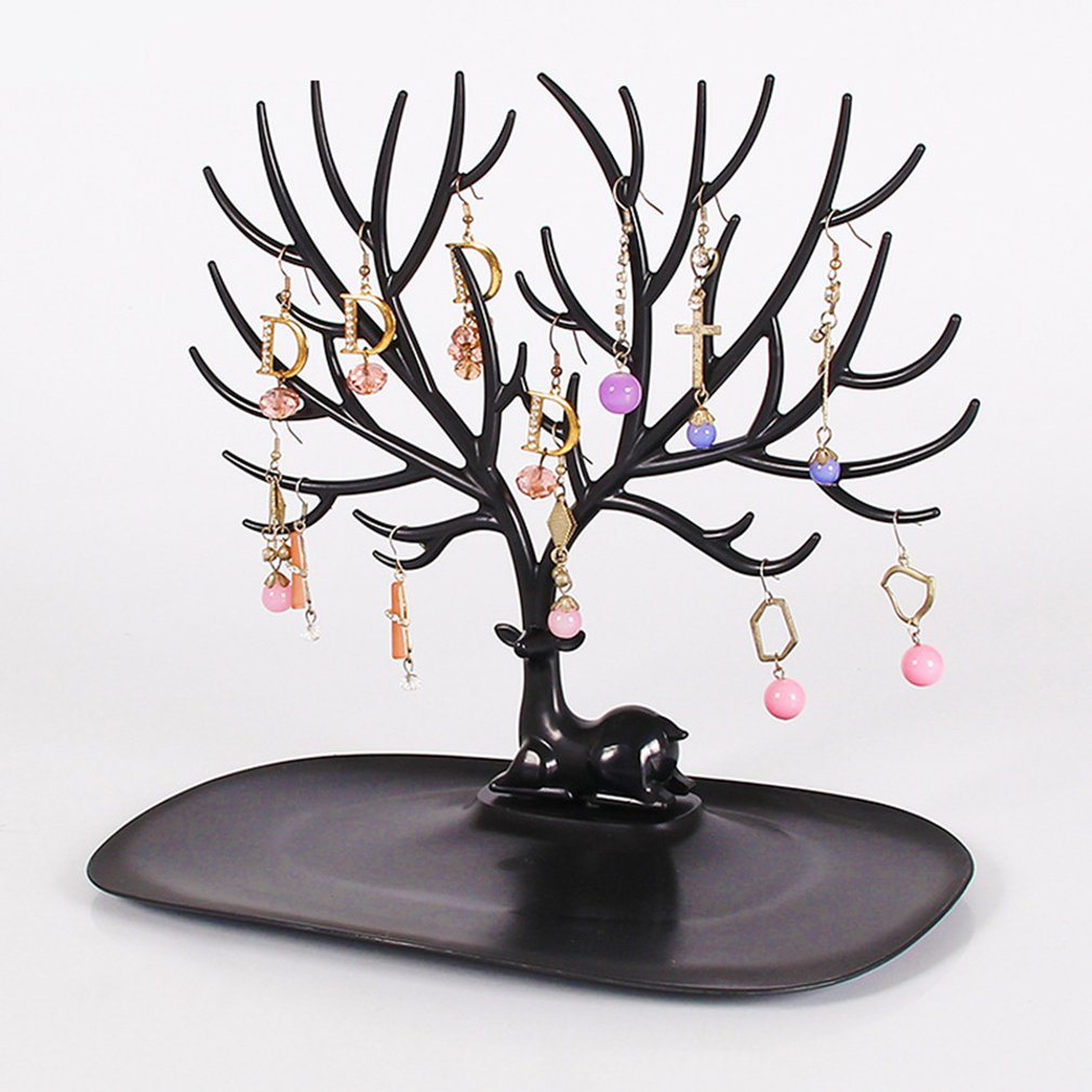 2019 Mordoa  Jwelry Organizer Necklace Earring Deer Stand Display Holder Show Rack Display Key Charms Holder Rack
