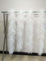 wholesale! Free Shipping 1pcs 5 layer white ostrich feather boa 2m party supply