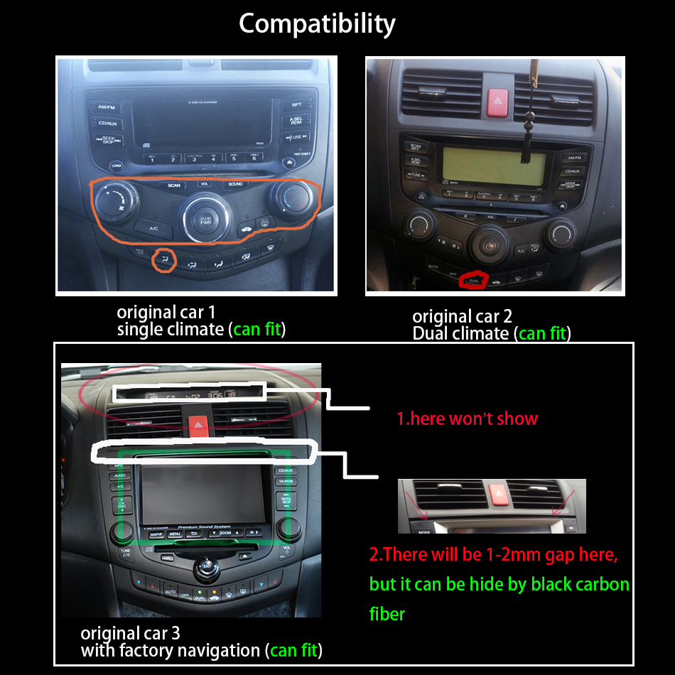 Clearance Car Radio Multimedia Android 8.0 for Honda Accord 7 2003-2007 car dvd audio stereo player gps Navigation wifi RDS 2din 2