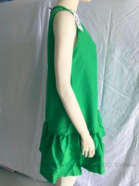 2017 Women's Vestidos Sexy Ruffles Dress Summer Sleeveless Casual A Line Bodycon Dress Women Party Size Short Mini Dresses