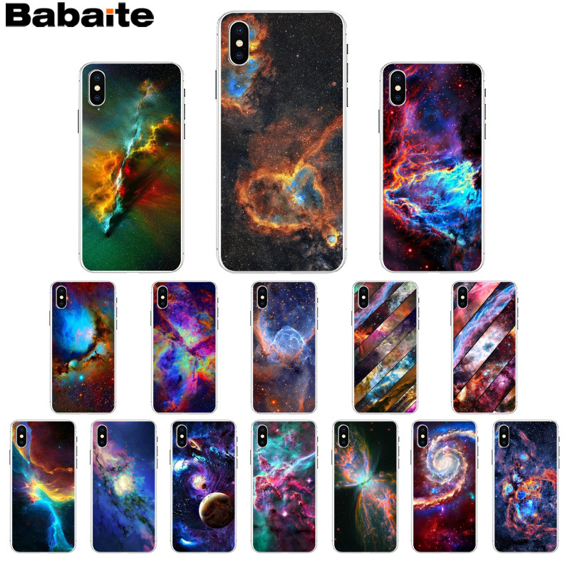 Half-wrapped Case Modest Babaite Fantasy Nebula Space Stars Universe Novelty Fundas Phone Case Cover For Iphone X Xs Max 6 6s 7 7plus 8 8plus 5 5s Se Xr Beautiful And Charming