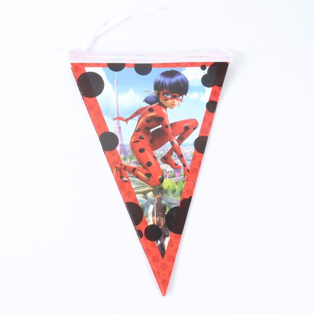 10pcs pack ladybug banner flag kids birthday party supplies ladybug