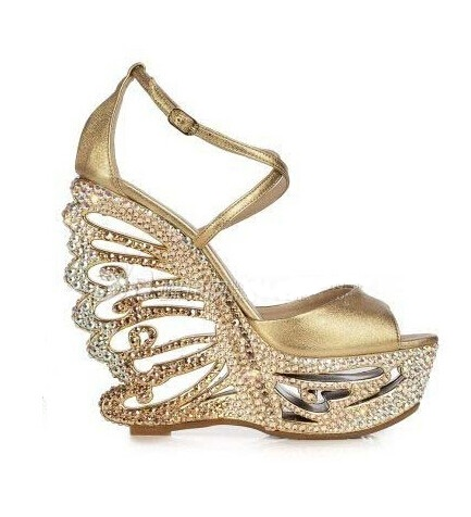 Colorful Crystal Women Shoes Ankle Peep Toe High-heel Buckle Newest Real Photo Sandals Metal Buckle Platform Shoes Bling Hotsale newest design stylish wedge sandals bling bling multicolor rhinestone decoration celebrities style concise peep toe party shoes
