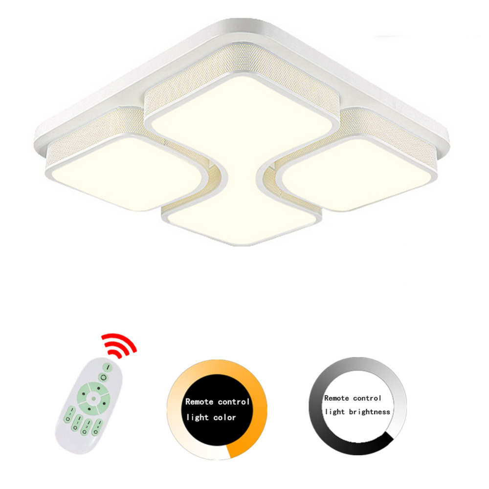 Modern Ceiling Led Lights For Home Acrylic Lampshade Luminaria Remote Control Ceiling Lamp Lampen Lamparas De Techo Verlichting 2017 acrylic modern led ceiling lights fixtures for living room lamparas de techo simplicity ceiling lamp home decoration