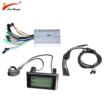 jueshuai e-bike 48v 36v 500w Controller Ebike LCD Display Sine Wave Stable Electric Scooter Controller Electric Bicycle Parts