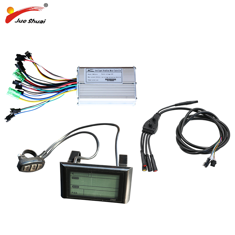 jueshuai e bike 48v 36v 500w Controller Ebike LCD Display Sine Wave Stable font b Electric