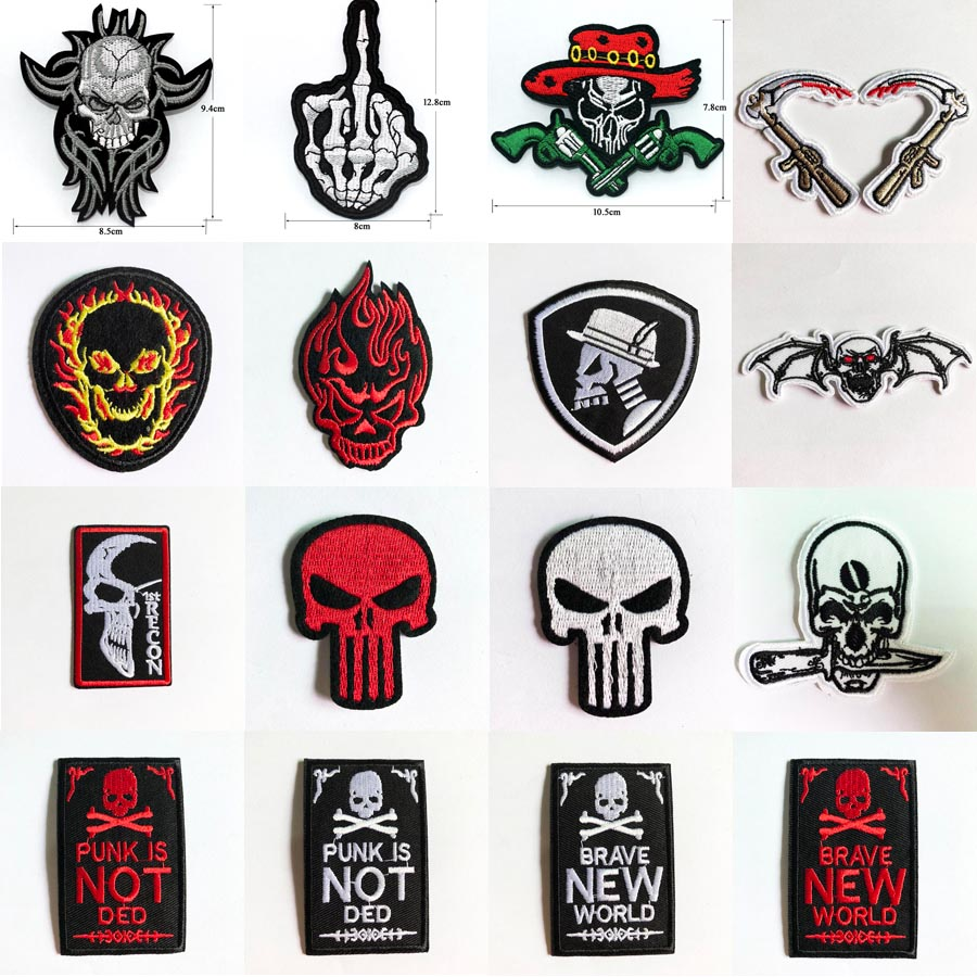 USA Logo Embroidered Sew Iron On Patches Badge Fabric Bag clothes Hat Applique