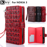 K Try Case For Nokia 3 High Quality Pu Leather With Soft Silicone Cover For Nokia