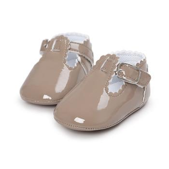 12 kolorów moda dziewczynek buty dla dzieci śliczne noworodka buty dla początkujących niemowlę list księżniczka miękka podeszwa dno antypoślizgowe buty tanie i dobre opinie WONBO Klamra Wiosna jesień Pasek klamra Stałe Baby girl Pierwsze spacerowiczów Korka Pasuje prawda na wymiar weź swój normalny rozmiar