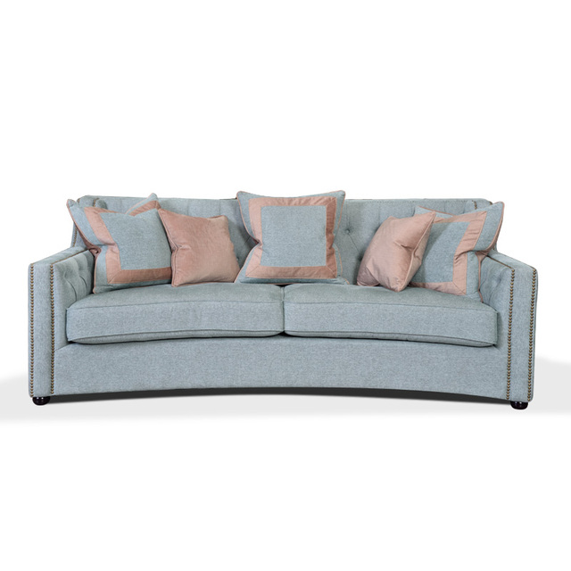 New Design Home Furniture Wooden Fabric Sofa, 1 Piece Low MOQ Tufted  Upholstery Sofa