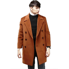 S-6XL Plus Size Clothes Cashmere Coat Men Spring And Autumn New Korean Version Loose Double Breasted Woolen Jackets male Trench